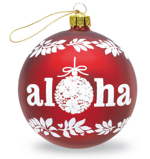 Hawaiian glass ornament 'Aloha'