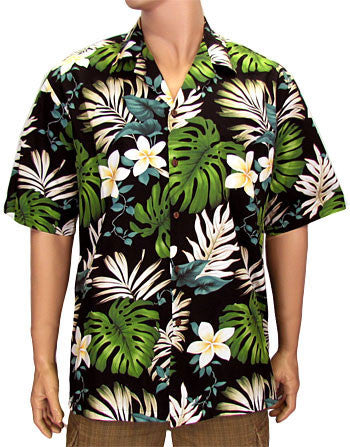 Hawaiian Shirt Palolo Valley (black)