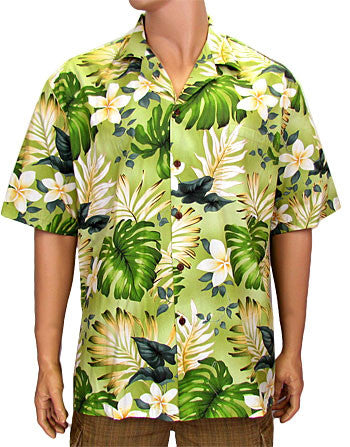 Hawaiian Shirt Palolo Valley (green)
