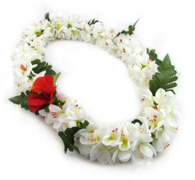 Hawaii Flower Lei Shell Ginger (white)