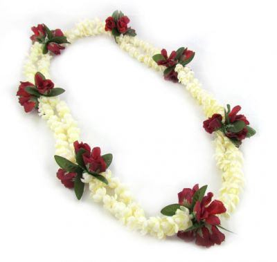 "Hawaii Flower Lei ""Pikake and Roses"" (red)"