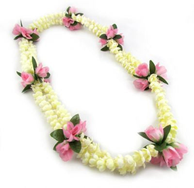 "Hawaii Flower Lei ""Pikake and Roses"" (pink)"