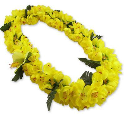 Hawaii Flower Lei Shell Ginger (yellow)