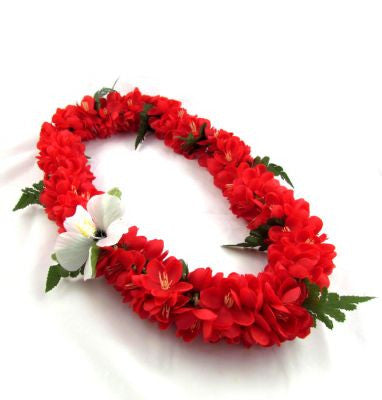 Hawaii Flower Lei Shell Ginger (red)