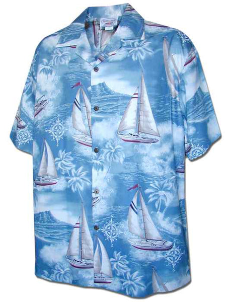 Hawaiian Shirt Sailboats (slate)