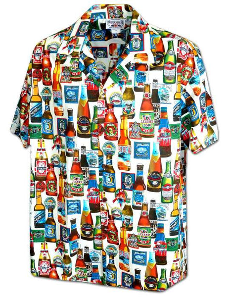 Hawaiian Shirt Beer Bottles (white)