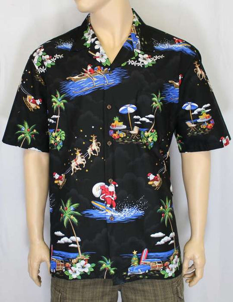 Hawaiian Shirt Christmas (black)