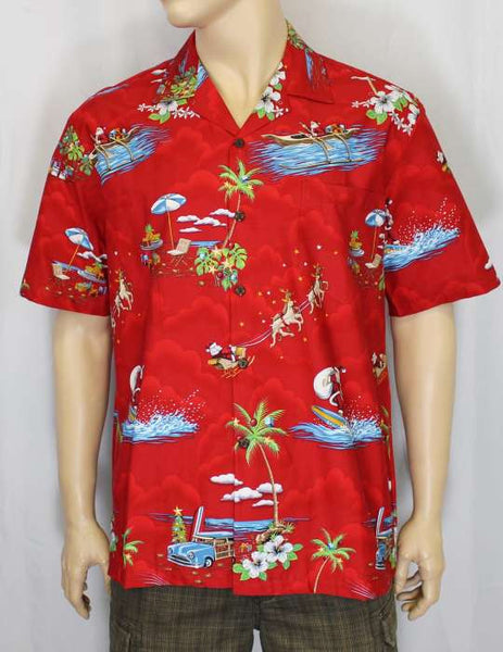 Hawaiian Shirt Christmas (red)