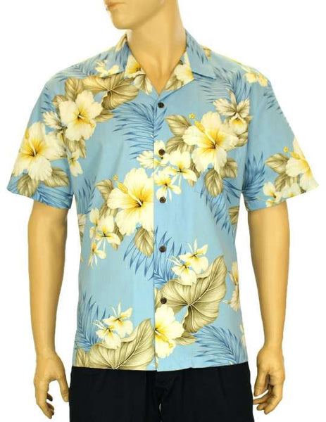 Hawaiian Shirt Hibiscus Trend (blue)