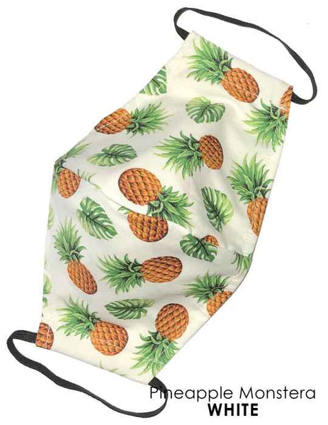 Fashion Face Mask Royal Creations Pineapple White