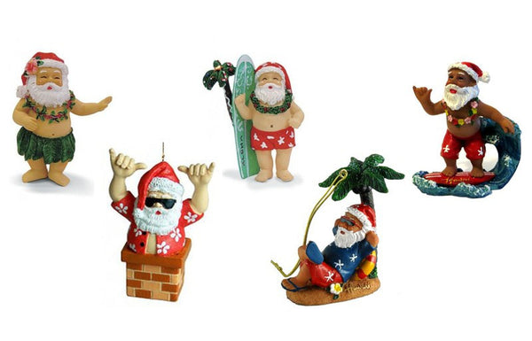 Hawaiian Santa Christmas Ornament