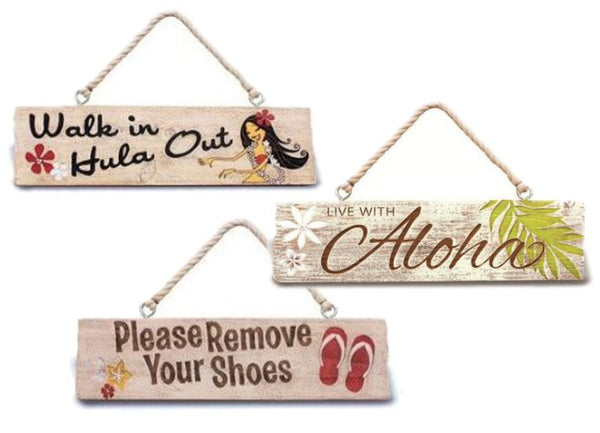 Hawaiian Wooden Hanging Sign