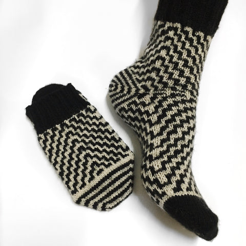 Aztec Toe Up Socks