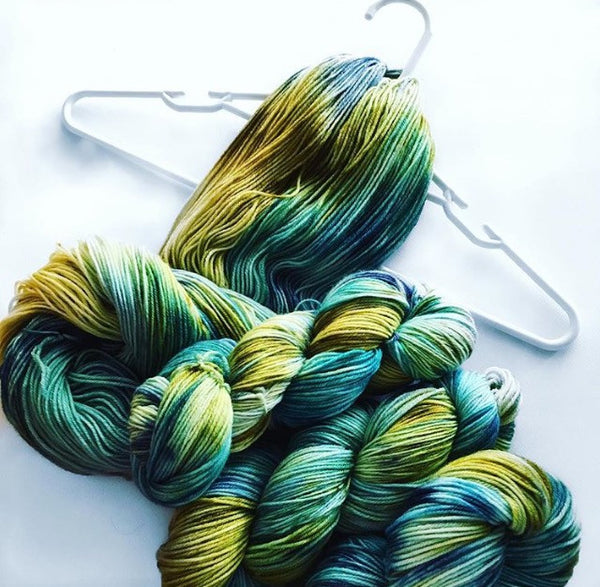 Hand-dyed Merino Luxury (Fingering) 4 Ply Yarn
