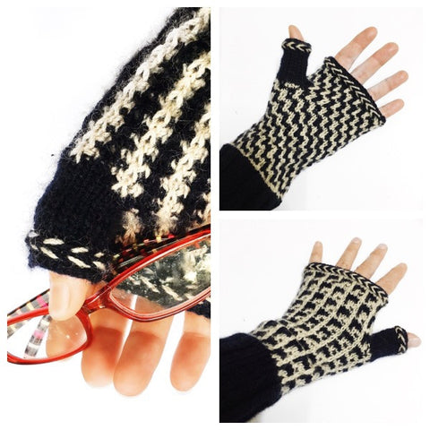 Mosaic Medley Fingerless Gloves