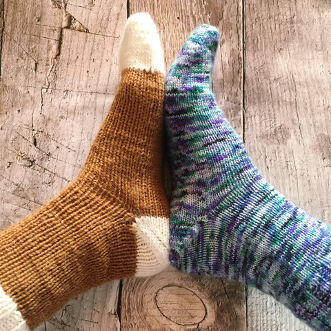Easy Toe-Up Sock Tutorial