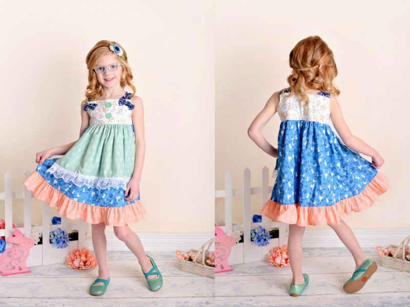 Bunny Hop Knot Dress by Fabulous Girl Clothing