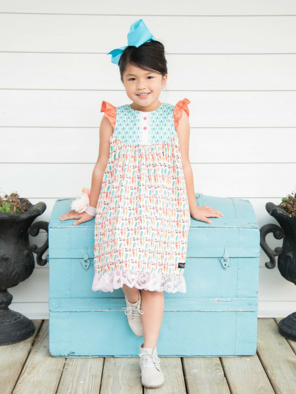 Spring Veggies Farm Girl Dress