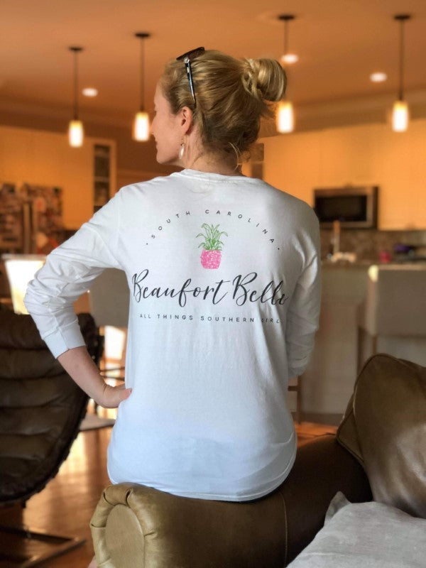 Beaufort Belle Co. Signature Pineapple Tee-Comfort Colors