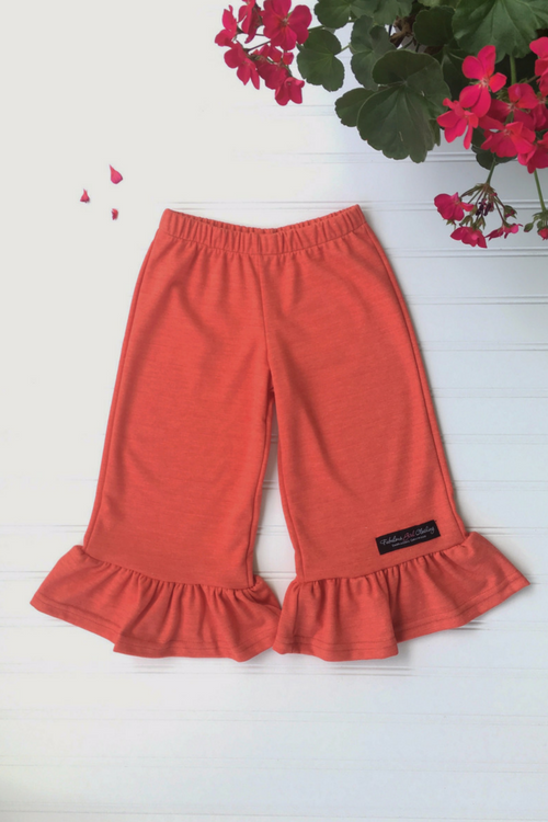 Big Ruffle Pants in Persimmon Knit