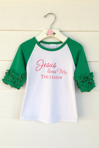 Jesus Loves Me Ruffled Tee