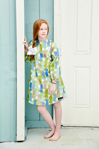 Olivia Tunic Dress-Green Dress Forms