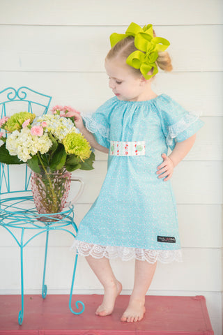 Sweet Mary Dress-Blue