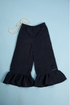 Ruffle Pants in Navy Corduroy