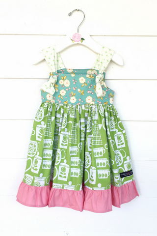 Teapot Blossoms Knot Dress