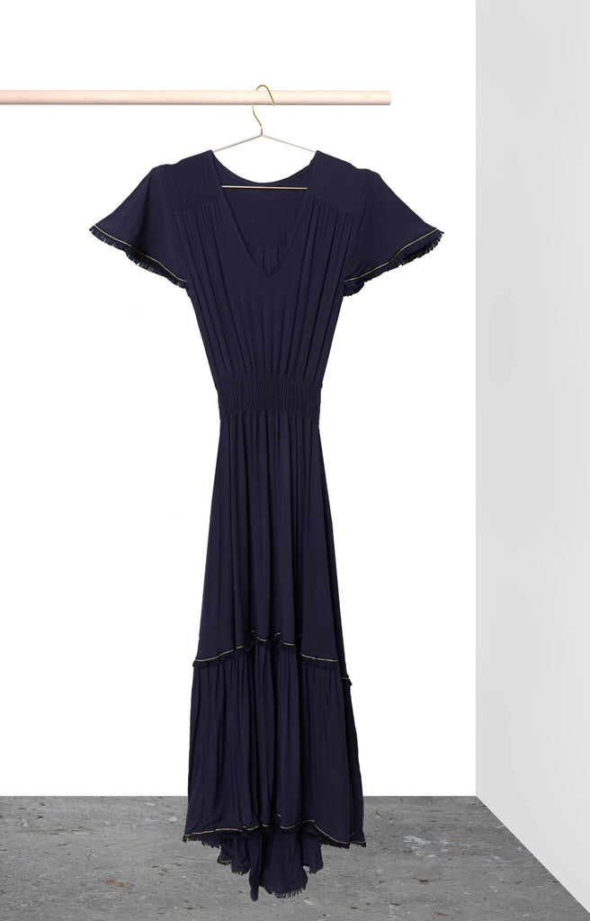 Sophia Dress - Navy with Navy Trim