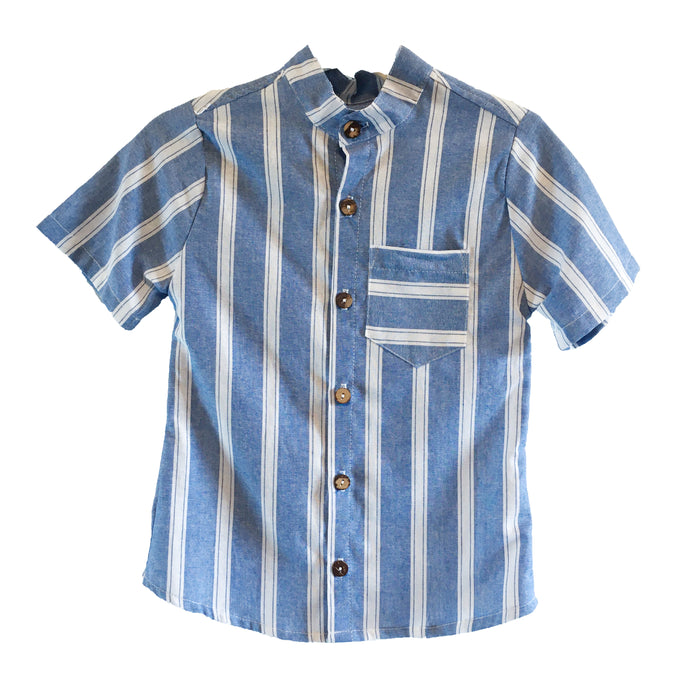 Ryan Short Sleeve Shirt - Blue Stripe