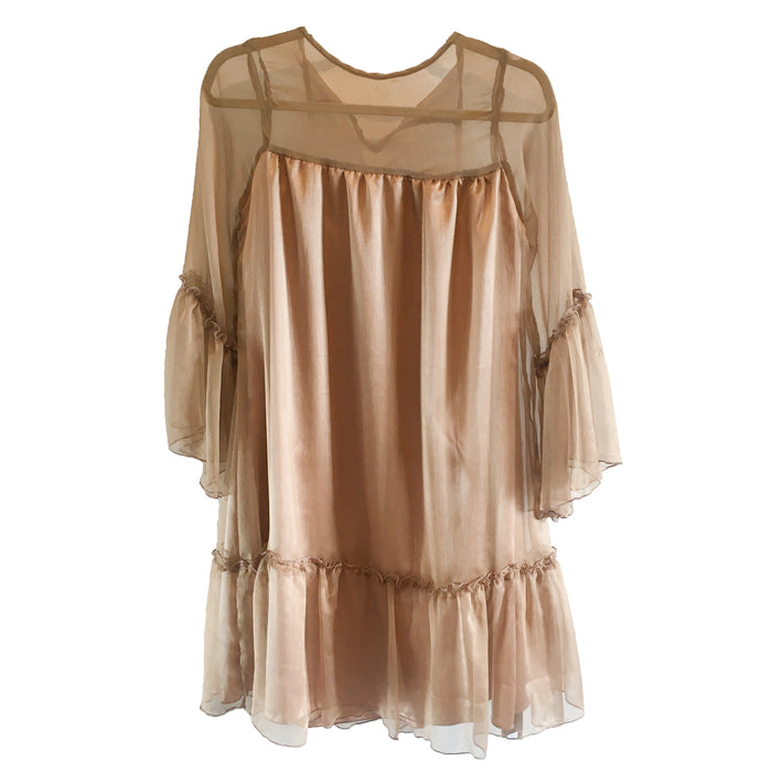 Chloe Dress - Gold Silk