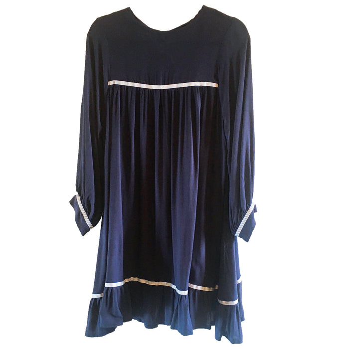Christy Babydoll Dress - Navy