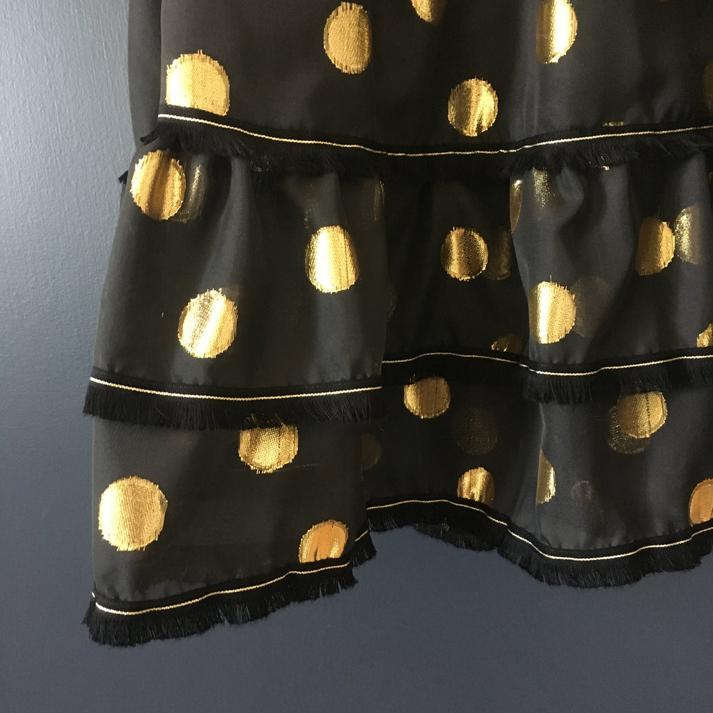 Clare Dress - Black & Gold
