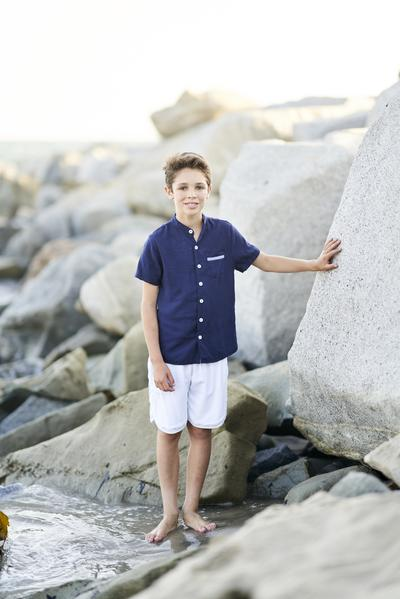 Ryan Short Sleeve Shirt - Navy