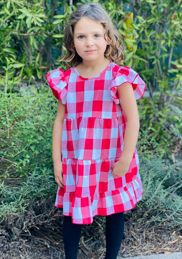 Katie Dress - Red and White Gingham