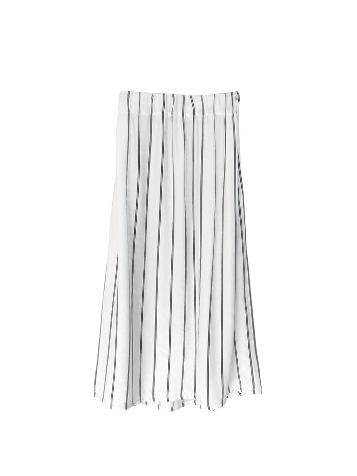 Valentina Skirt - White with Black Stripes