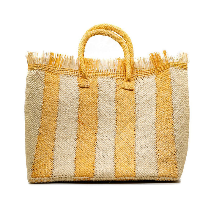 Talk to the Palm Striped Tote - Tangerine  (Pre-Order)