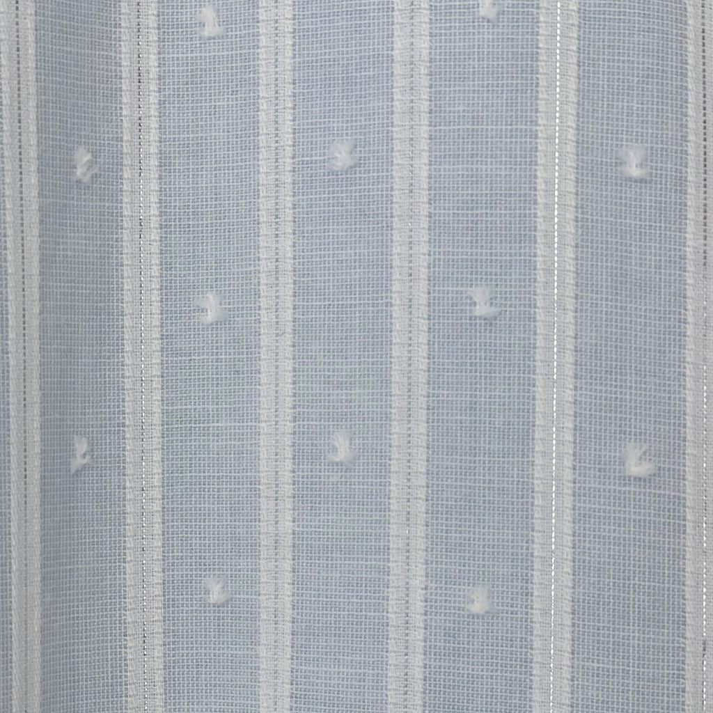 Isabella Dress - Light Blue and White Stripe