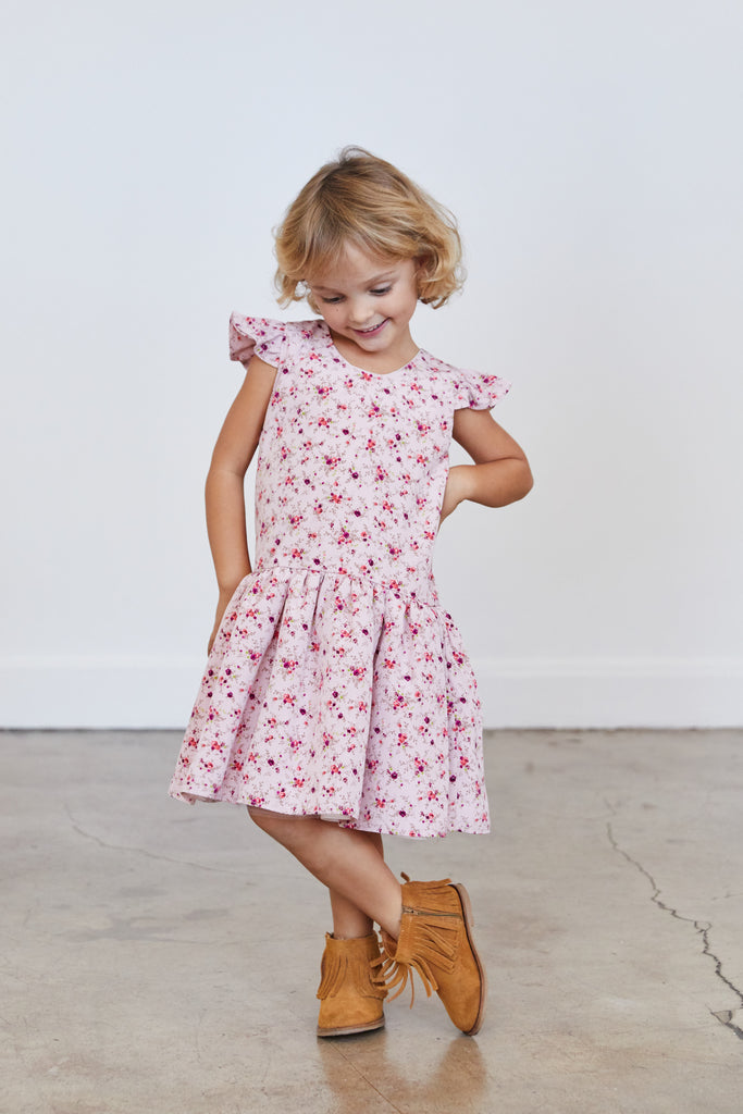 Elle Dress - Pink Flower