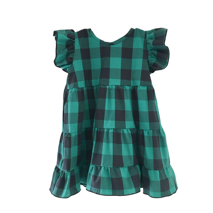 Katie Dress - Green and Black Gingham