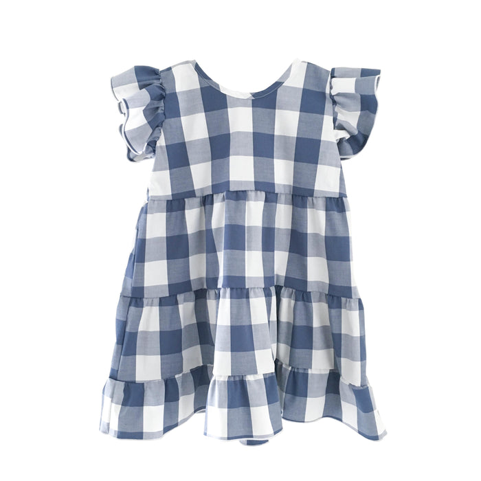 Katie Dress -  Bleu de France Gingham