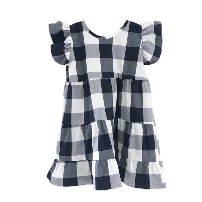 Katie Dress - Navy and White Gingham