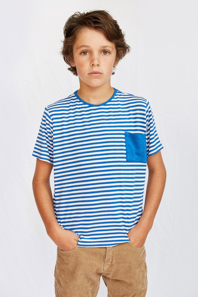 Tom T-Shirt - Royal Blue Stripe