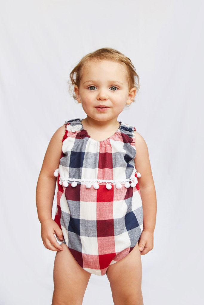 Baby Bubble - Red, White & Blue Plaid (sold out)