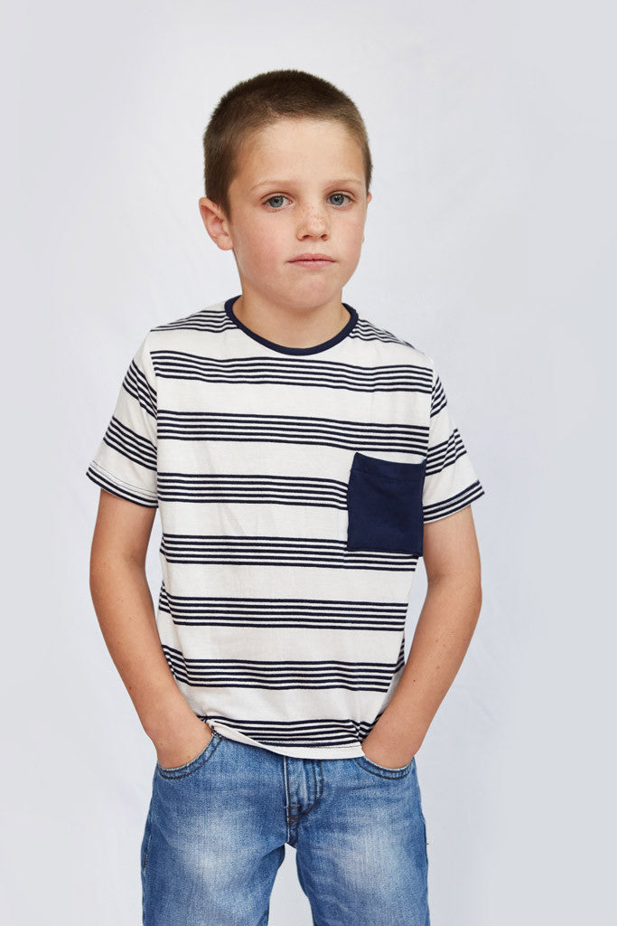 Tom T-Shirt - Navy Stripe