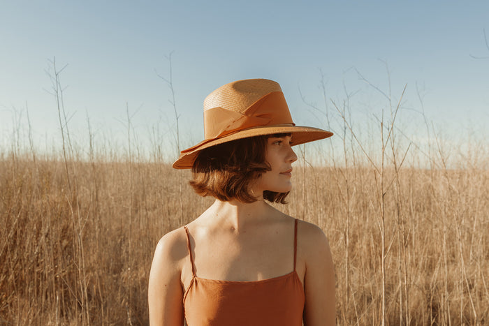 Gardenia Hat - Honey/Butterscotch