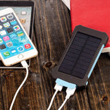 Waterproof Solar Power Bank 10000 mAh, Dual USB Li-Polymer Solar Battery Charger and  Power-bank - LANTERN Light