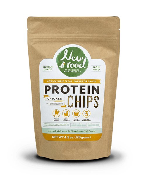 New Road Foods Dog Food Protein Chips | Human Grade Dog Treats