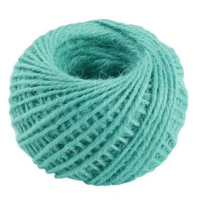 Jute 2mm Twine Cord Roll 50 mtrs - Turquoise